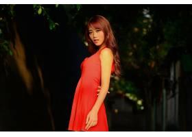 女人,亚洲的,妇女,模特,女孩,红色,穿衣,壁纸,