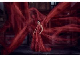女人,亚洲的,妇女,模特,女孩,红色,穿衣,黑发女人,壁纸,