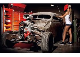 女人,女孩,汽车,热的,杆,壁纸,