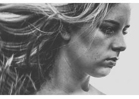 女人,脸,妇女,模特,女孩,黑色,白色,壁纸,(5)