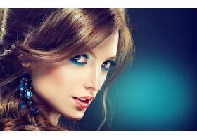 女人,脸,模特,化妆品,耳环,壁纸,