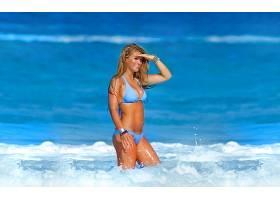 女人,艾米,威尔顿,模特,一致的,王国,海,热带的,模特,比基尼,夏天