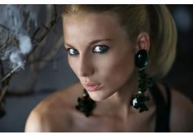 女人,模特,模特,妇女,绿色的,眼睛,脸,白皙的,Bokeh,壁纸,