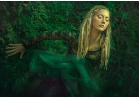 女人,模特,模特,妇女,绿色的,穿衣,绿色的,白皙的,情绪,女孩,壁纸