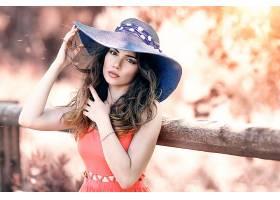 女人,模特,模特,妇女,黑发女人,帽子,女孩,棕色,眼睛,户外的,壁纸