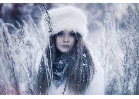 女人,模特,模特,妇女,黑发女人,蓝色,眼睛,户外的,冬天的,帽子,壁