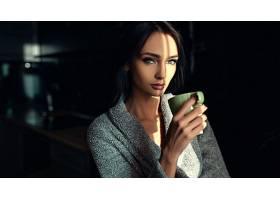女人,模特,模特,妇女,女孩,黑发女人,绿色的,眼睛,壁纸,(2)