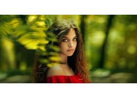 女人,模特,模特,妇女,女孩,黑发女人,绿色的,眼睛,污迹,壁纸,