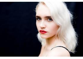 女人,模特,模特,妇女,女孩,白皙的,蓝色,眼睛,口红,脸,壁纸,