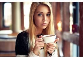 女人,模特,模特,妇女,女孩,白皙的,蓝色,眼睛,杯子,壁纸,