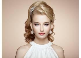 女人,模特,模特,妇女,女孩,白皙的,蓝色,眼睛,耳环,脸,壁纸,