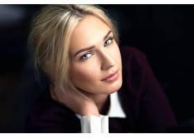 女人,模特,模特,妇女,女孩,白皙的,蓝色,眼睛,脸,壁纸,(1)