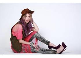 女人,吉莉安,Zinser,女演员,一致的,州,模特,粉红色,头发,美国的,