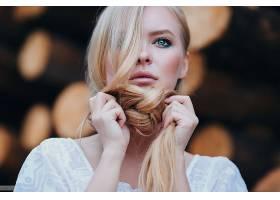 女人,模特,模特,妇女,女孩,白皙的,蓝色,眼睛,辫子,壁纸,