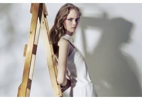 女人,模特,模特,妇女,女孩,白色,穿衣,蓝色,眼睛,白皙的,壁纸,