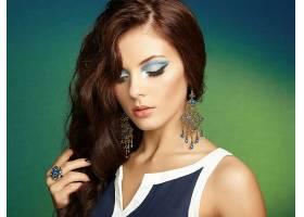 女人,模特,模特,妇女,女孩,黑发女人,化妆品,耳环,壁纸,
