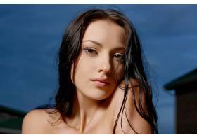 女人,安娜,Sbitnaya,模特,乌克兰,脸,模特,特写镜头,黑色,头发,棕