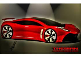车辆,法拉利,汽车,红色,3D,壁纸,