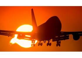 车辆,波音,747,飞机,波音,乘客,飞机,太阳,轮廓,壁纸,