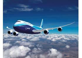 车辆,波音,747,飞机,波音,云,乘客,飞机,壁纸,