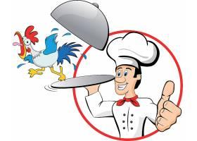 创意扁平化厨师插画矢量元素
