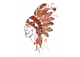 羽毛装饰的帽子