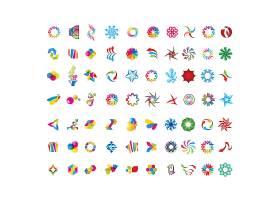 多款炫彩图形形象创意LOGO设计
