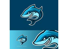 卡通鲨鱼形象创意LOGO设计