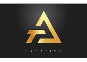 金色抽象图形形象创意LOGO设计