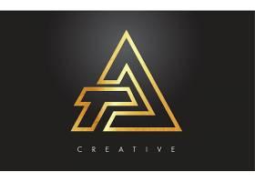 三角图形组合形象创意LOGO设计