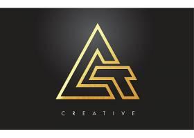 金色图形组合形象创意LOGO设计