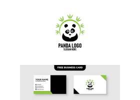 卡通熊猫形象创意LOGO设计
