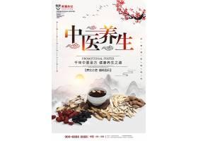 唯美中国风中医养生海报
