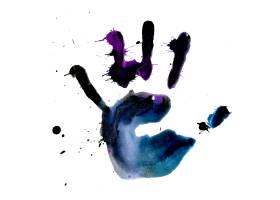 彩色手掌图案背景