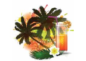 夏日热带树主题夏日装饰插画元素