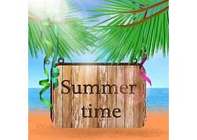 夏日时光主题夏日装饰插画元素