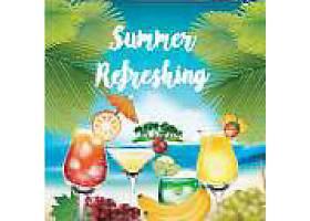 热带水果主题夏日装饰插画元素