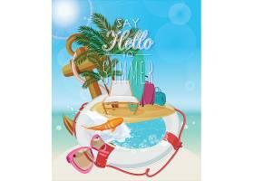 你好夏日主题夏日装饰插画元素