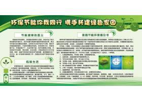 环保节能主题绿色环保海报展板