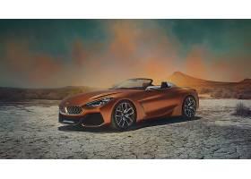 车辆,宝马,Z4,宝马,汽车,运动,汽车,橙色的,汽车,沙漠,车辆,壁纸,图片
