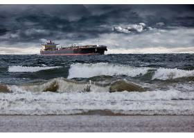 车辆,油轮,船,海洋,地平线,云,波浪,壁纸,