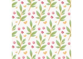 小花朵树枝无缝图案