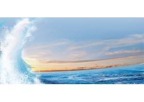 海浪浪花水花水资源通用素材