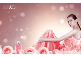 美容化妆品美女模特护肤品psd素材