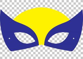 金刚狼面具超级英雄X,男士,面具PNG剪贴画紫色,模板,徽标,电脑壁