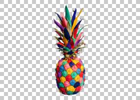 菠萝果实,多彩多姿的菠萝PNG剪贴画干果,菠萝切片,水彩菠萝,封装P图片