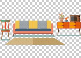 表客厅,地毯首页PNG剪贴画角度,家具,室内设计,矩形,橙色,房间,沙图片