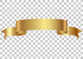 Web横幅,黄金横幅透明,金色彩带PNG剪贴画角度,功能区,剪贴画,圣