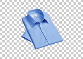 领蓝色服装衬衫,折叠蓝色连衣裙PNG剪贴画紫色,蓝色,摄影,封装Pos图片