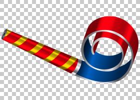 派对角可伸缩图形,生日派对口哨,红色和蓝色方角PNG剪贴画气球,封图片